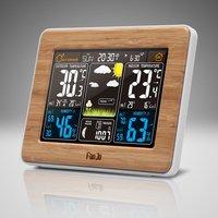 FanJu FJ3373 Weather Station Barometer Thermometer Hygrometer Wireless Sensor LCD Display Weather Forecast Digital Alarm Clock