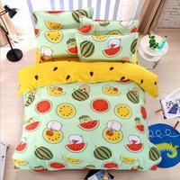 Fashion Cartoon Watermelon Home Textile 3/4pcs Bedding Sets Children's Beddingset Bed Linen Duvet Cover Bed Sheet Pillowcase/bed