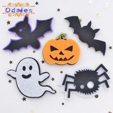 30Pcs Halloween Appliques Ghosts Pumpkins Bats Spider Decorative Patches Spiders Scrapbooking Supplies