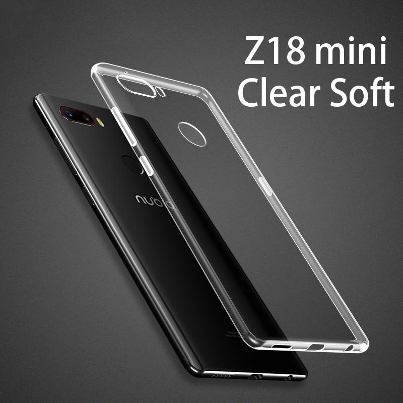 Z18MINI Good quality Clear Soft TPU silicon case cover For ZTE nubia Z18 mini cover case Transparent NX611J Corner protection