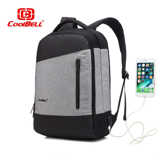 30b2105db COOLBELL 15 inch Laptop Backpack With USB Charging Port Multi-compartment  Travel Bag Rucksack Waterproof Knapsack For Men Women