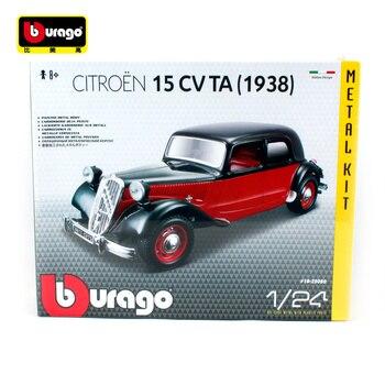 15 Racing Rojo Negro Ta Bburago 24 Diy Citroen Cv 1 1938 Montaje BCxode