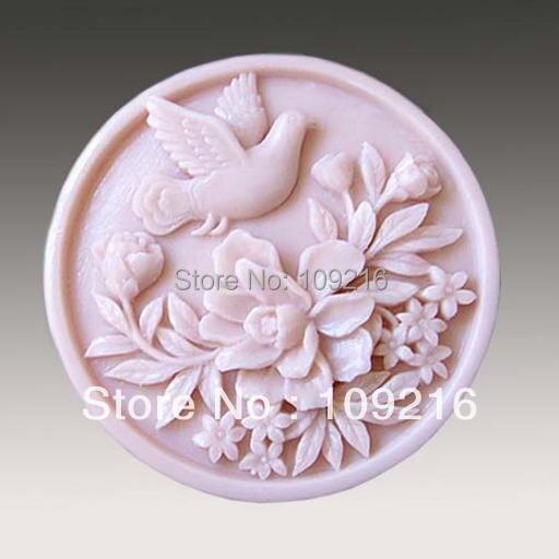 1 шт. Сороки и Цветок (50115) Силиконовые Мыло Ручной Работы Mold Ремесел DIY Плесень