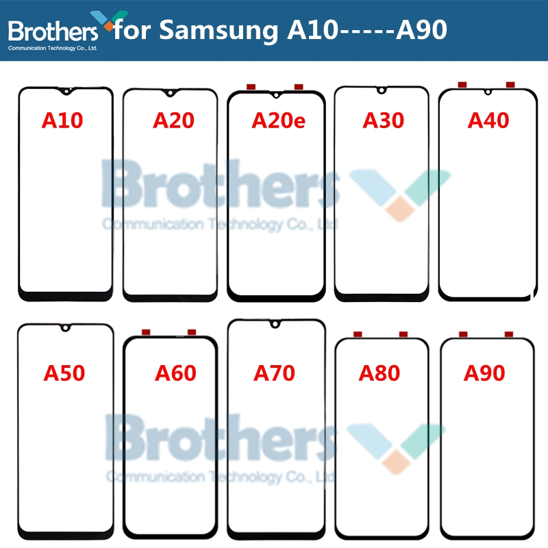 Front Outer Glass Lens For Samsung Galaxy A10 A20 A30 A40 A50 A60 A70 A90 Touch Screen Glass Front LCD Glass Lens Replacement