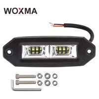 Work Light LED Bar Pods 12v 40w Work Led 6000k Spotlight Flood 4x4 Flush Mount Driving Fog Lamp Super Bright Auto Light WOXMA