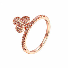 Ringen Voor Vrouwen Mode Rose Gold Crystal Plum Sieraden Meisje Glamour Zirkoon Engagement Ring Bruiloft Accessoires