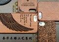Caja de madera para apple iphone 5 5s se talla de bambú natural diseño de cubierta de madera con bordes de plástico resistente para iphone 5s se