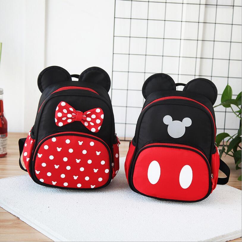 New Kids Bag Kindergarten Children Cartoon Mickey School Bags Minnie Backpack Waterproof Schoolbags Satchel