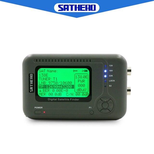 Sathero SH 200HD DVB S2 finder satellite meter portable high quality TV Signal Meter HD satfinder bulit in capacity battery