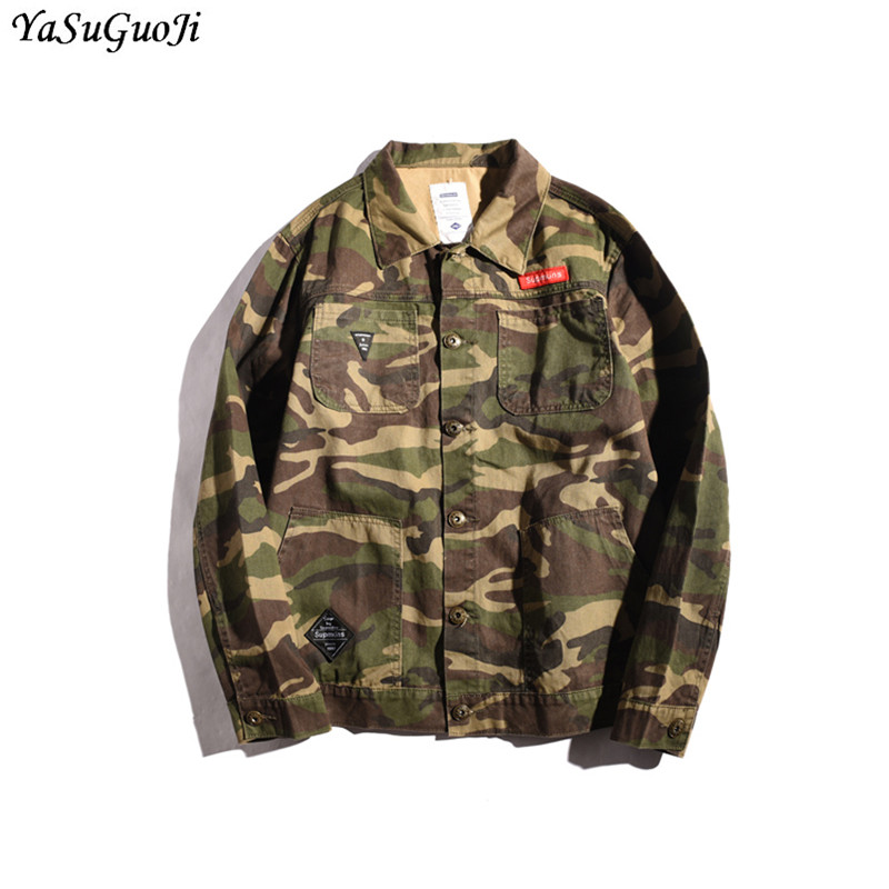 Men's Clothing Ysgj Fashion Camouflage Denim Jacket Men Single Breasted Jackets Men Chaquetas Hombre Hip Hop Men Clothes 2018 Size M-5xl Jk2 Pleasant To The Palate Jackets