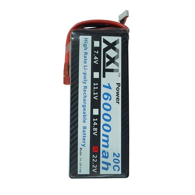 XXL RC батареи 16000 мАч 22.2 В 6 S 20C Max 40C Для вертолеты RC DJI Распространение Крылья S800 S900 S1000 Модели Литий-полимерный батареи