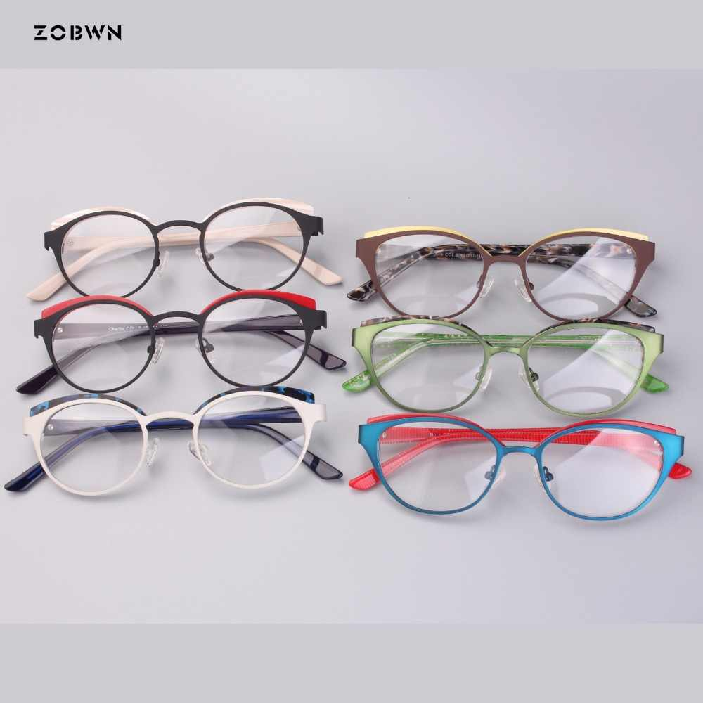 0fff10a4d886 wholesale round children eyeglasses metal mixed acetate green Goggles  Reading Glasses UV400 cat eye kids harry