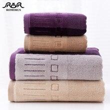 ROMORUS High Quality Cut Pile Cotton Bath Towels Thick Soft Small Face Hand Large Shower Bathroom Towel Dropship
