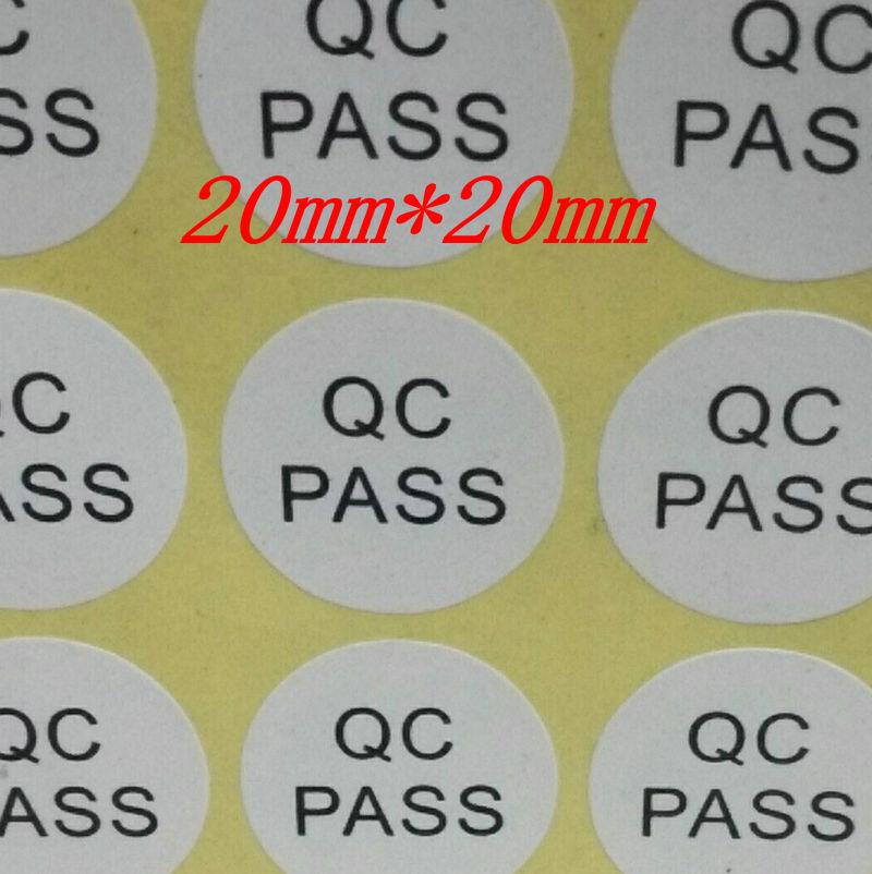 200 pces etiquetas redondas do qc 10 10mm da data do mes do ano da etiqueta