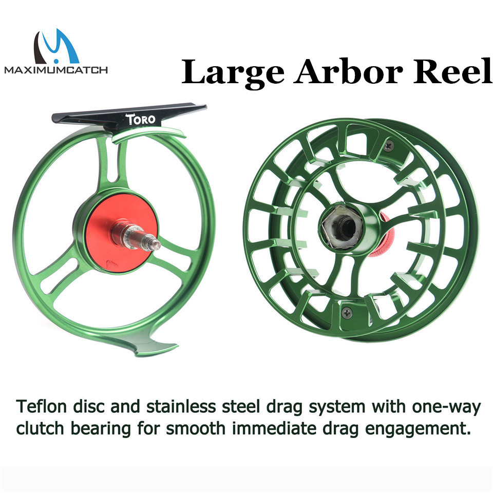 Maximumcatch High Grade TORO Fly Reel 3/4/5/6/7/8WT 6061-T6 Aluminum Green Color Right Left-Handed Fly Fishing Reel maximumcatch hvc 7 8 weight exclusive super light fly reel chinese cnc fly fishing reel large arbor aluminum fly reel