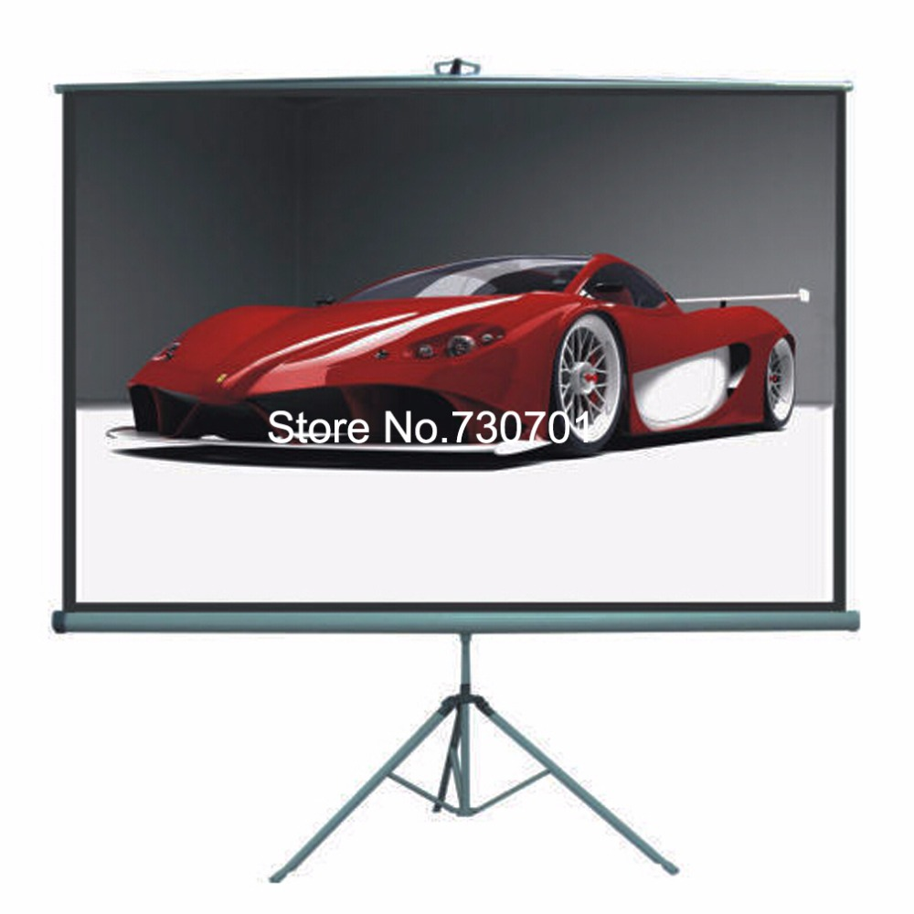 Supply Best Quality Matte White 72inch Portable Tripod Portable Projection Projector Screen for home or school training 72 inches and the authenticity of the tripod white plastic screen projector projector screen