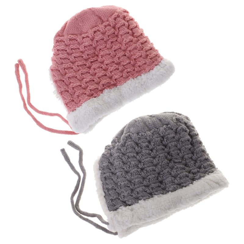 Baby Hat Woolen Warm Winter Thick Newborn Photography Clothing Cap Boys Girls Kids Hats Costume Autumn Infant Toddler Supplies