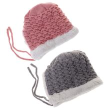 Baby Hat Woolen Warm Winter Thick Newborn Photography Clothing Cap Boys Girls Kids Hats Costume Autumn Infant Toddler Supplies baby boys police costume clothing set with hat infant t shirt pants hat newborn cap cosplay ropa bebe costume for babies