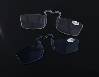 [! Dwie pary!] klip okulary do czytania okulary do czytania w podeszłym wieku Mini nos i okulary do czytania + 1 + 1 5 + 2 + 2 5 + 3 tanie i dobre opinie Gradient ALLOY nomanov Z poliwęglanu CN (pochodzenie) 999cm WOMEN Jasne