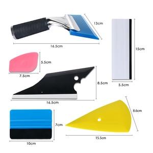 Image 5 - Kit doutils en Fiber de carbone, couteau dart à raclette, teinte de fenêtre, autocollants de voiture, emballage de Film, accessoires automobiles 6
