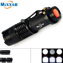 ZK92 CREE Q5 Mini Black 3000LM Waterproof LED Flashlight 3 Modes Zoomable LED Torch Penlight Lantern For Camping Hiking Hunting