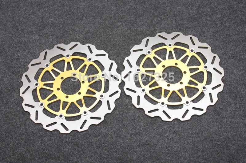 Мотоцикл спереди тормозные диски для Yamaha tdr 125 250 SRX 400 600 FZR 750 1000 XJR 1200 1300 переписка год универсальный