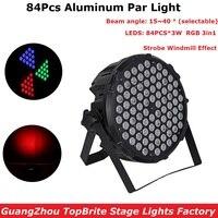 Aluminum Alloy LED Flat Par 84X3W RGB Full Color LED Par Can 15 40 Degree Beam