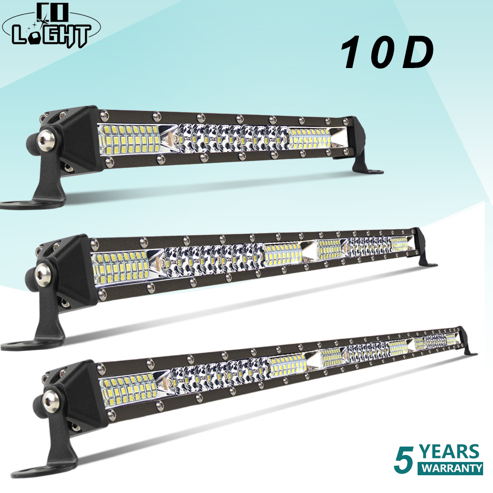 CO LIGHT 10D 10 20 30 inch 52W 104W 156W LED Work Light Bar Combo 4x4 Offroad LED Light Bar for Tractor Boat 4WD 4x4 Trucks ATV-in Light Bar/Work Light from Automobiles & Motorcycles
