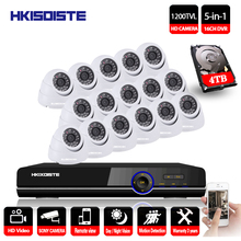 HKIXDISTE 16CH DVR Kit Security Camera System Home Security IR CUT Night Vision Sony 1200TVL Camera Surveillance System P2P View
