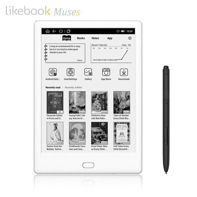 Likebook MUSES E-Đầu Đọc với 7.8 ''300ppi E-Mực Cảm Ứng 8 Nhân 1.5 GHz, tích hợp Âm Thanh 2G/32 GB Hệ Thống Android 6.0