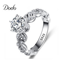 Antique products anillo white gold plated vintage Wedding elegant CZ diamond jewelry rings for women anel bijoux bague femme 97