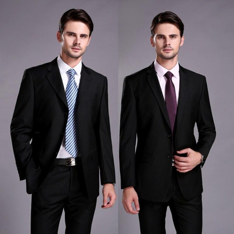 Бесплатная доставка Бизнес Для мужчин Костюмы Итальянский черный Нарядные Костюмы для свадьбы для Для мужчин Жених костюм Для мужчин смоки