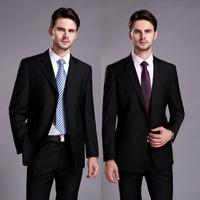 Free Shipping Business Mens Suits Italian Black Wedding Suits For Men Groom Suit Men Tuxedo man's 2 Peices Suits (Jacket+Pants)