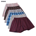 6Pieces/Lot BXMAN High quality Classic Plaid Men Boxer Shorts Large Size 3XL-4XL Mens Underwear Cotton Mix Colors