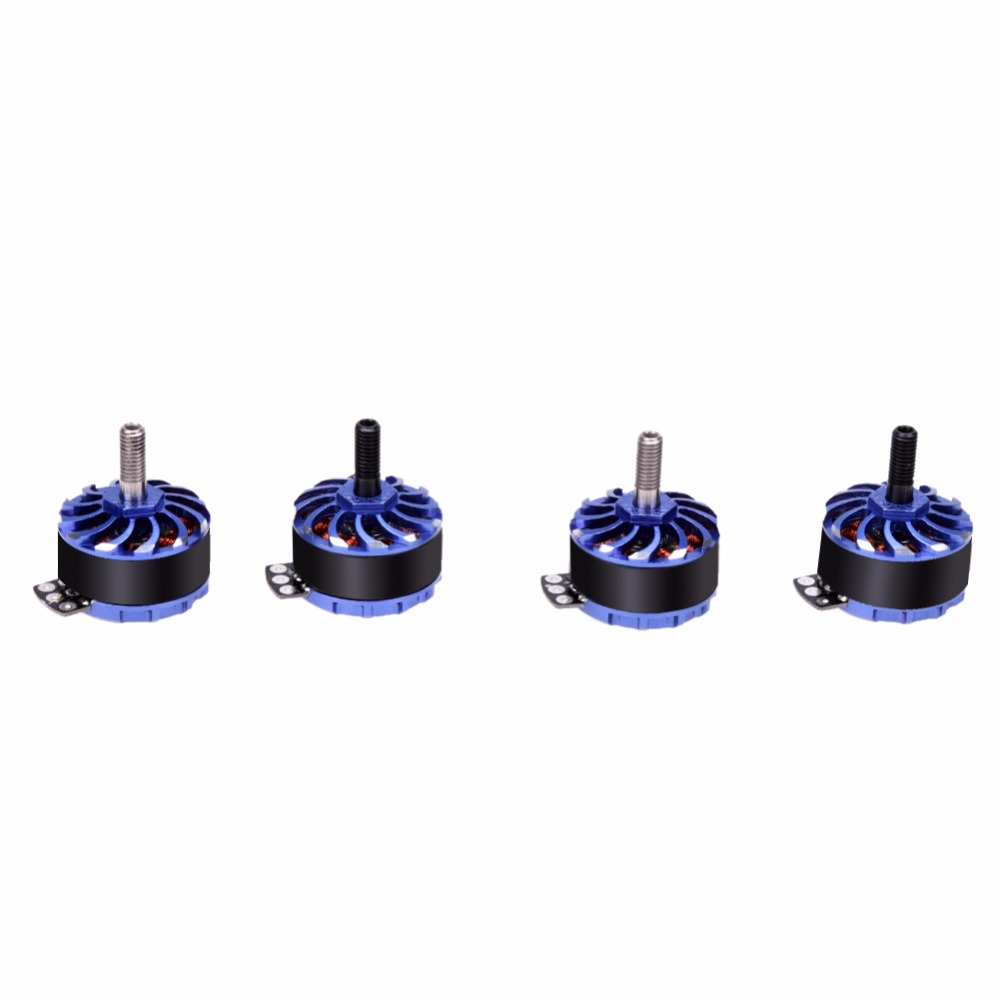 4pcs/set FR2307 2-4S CW/CCW 2150KV Brushless Motor for FPV Racer 5040 / 5045 Two-blade / Three-blade Propeller dys se1806 2550kv cw ccw brushless motor set