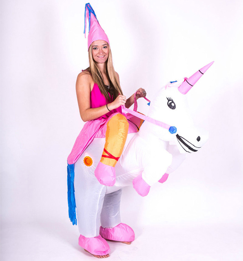 Adult Carnival Halloween Costumes Inflatable Unicorn Costumes Ride