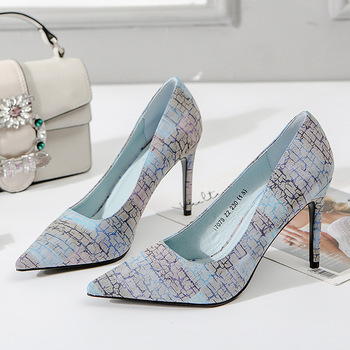 2018 New Arrival Korean Concise Pointed Toe Office Shoes Womens Fashion High Quality Shallow Heels for Women