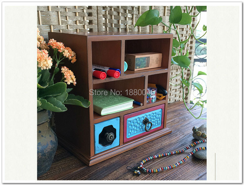 Coloured drawing or pattern 3 layers large wooden jewelry box jewelry necklace earrings high end European