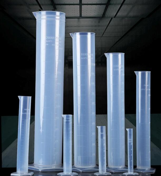 free shipping 1000ml 2pcs/lot  plastic measuring cylinder for lab supplies,container tube