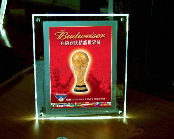 Рекламный акриловый светодиодный лайтбокс, светодиодный светильник рекламный дисплей 3 шт./партия