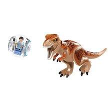 Jurassic World 2 Dinosaur Building Blocks Jurassic Dinosaur Figures Bricks Tyrannosaurus Rex Indominus I-Rex Model Toys цена