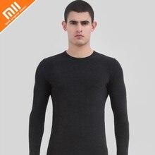 Original xiaomi mijia COTTONSMITH Sem Costura conjunto de roupa interior térmica dos homens camada de base inverno macio e confortável roupa íntima masculina
