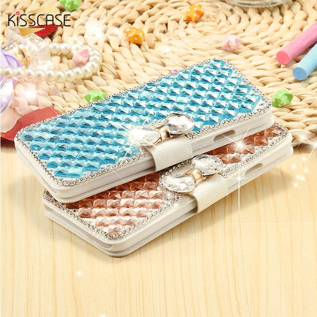 Luxury Glitter Diamond Rhinestone Stand Wallet Case For iPhone