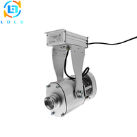 Rustproof Aluminum Alloy Silver Large Image Rotary Christmas 80W LED Gobo Projector 10000lm Festival Image Projector Night Light
