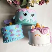 14CM Jumbo Squishy Colorful Unicorn Whale Cake Slow Rising Sweet Scented Kids Doll Cake Toys Decor