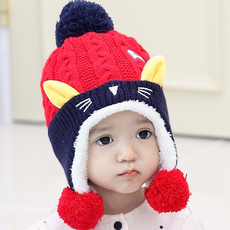 Apparel Accessories Girl's Accessories Cute Baby Winter Hat Warm Child Beanie Cap Animal Cat Ear Kids Crochet Knitted Hat For Children Boys Girls Hot New Orders Are Welcome.