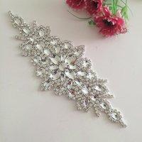 Prachtige handgemaakte riem kristal parel kralen tsjechische stenen bruidsjurk sash formele bruiloft avondjurk riem RA004