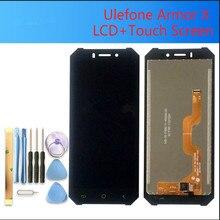 5.5 אינץ עבור ULEFONE שריון X LCD תצוגה + מסך מגע Digitizer עצרת 100% מקורי חדש LCD + מגע Digitizer