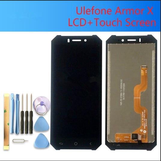 5.5 بوصة ل ULEFONE درع X شاشة الكريستال السائل مجموعة المحولات الرقمية لشاشة تعمل بلمس 100% الأصلي جديد LCD + اللمس محول الأرقام