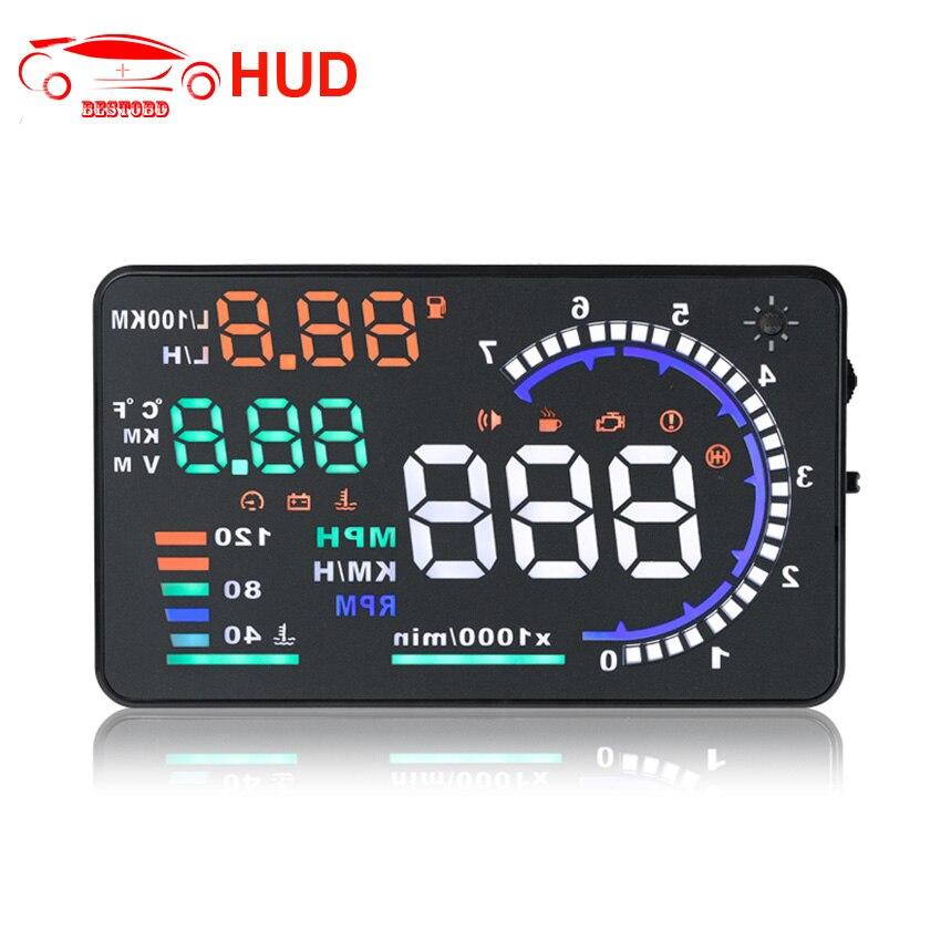 HUD 5 5 Inch Obd OBDII Car A8 Hud Head Up Display Odb2 Windows Screen Projector